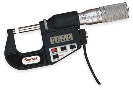 Electronic Micrometer w/SLC, SPC, 1 In