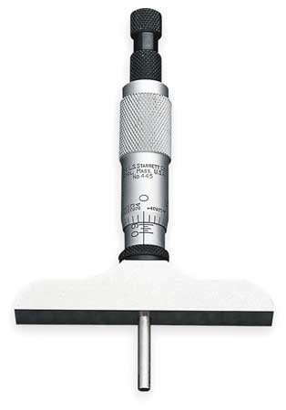 Depth Micrometer, 0 to 3 In