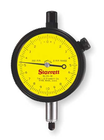 Dial Indicator, 0 to 25mm, 0-100