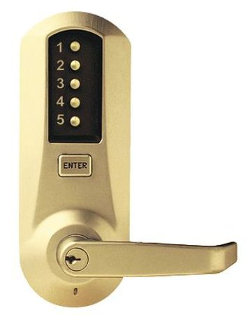 Push Button Lock, Entry, Key Override
