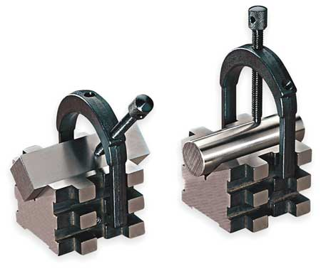 V-Blocks, Matched Pair w/Clamps, 2 In