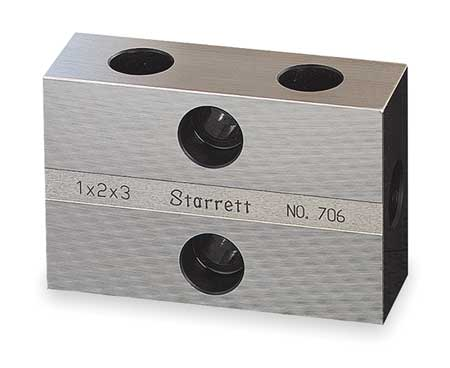 Inspection Block w/Case, 1 to 3 In