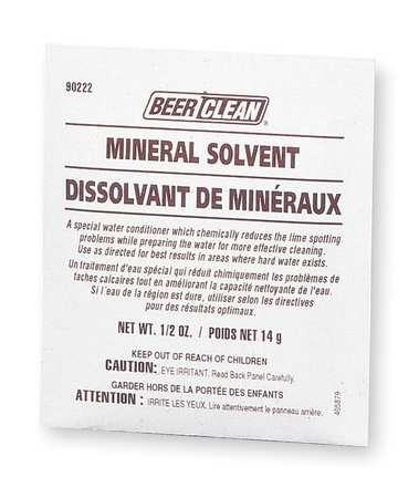 Powder Beer Clean Mineral Solvent, PK100