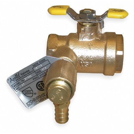 "3/4"" FNPT x PEX Bronze Thermal Expansion Ball Valve"