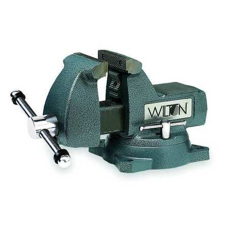 Mechanic's Vise, Swivel, 6In Jaw, Cast Iron