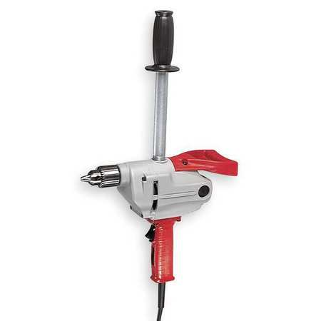 Electric Drill, 1/2 In, 450 rpm, 7.0A