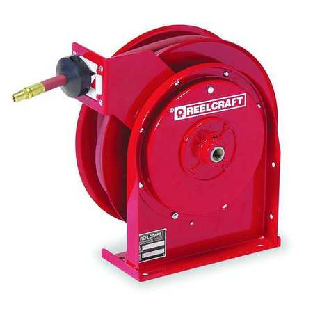 "3/8"" x 35 ft. Spring Return Hose Reel with Hose 300 psi"