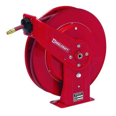 "3/8"" x 50 ft. Spring Return Hose Reel with Hose 4800 psi"