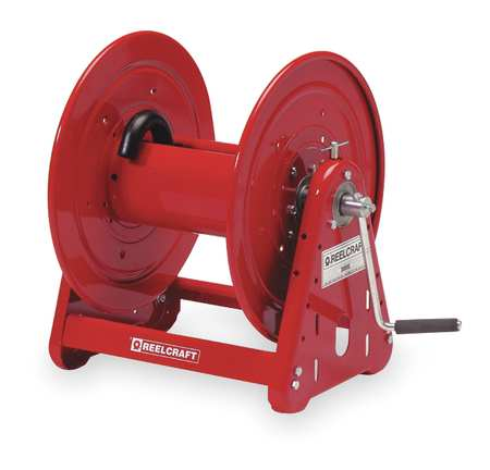 Hose Reel, Hand Crank, 1/2 In IDx400 Ft