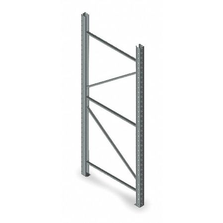 Welded Upright Frame, 36 D x 120 H, Gray