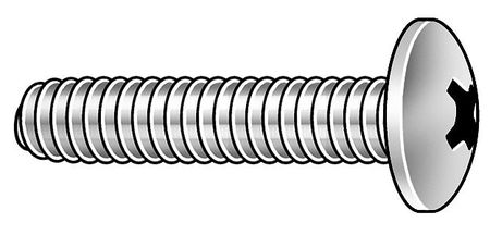 "#10-32 x 1-1/4"" Truss Head Phillips Machine Screw,  100 pk."