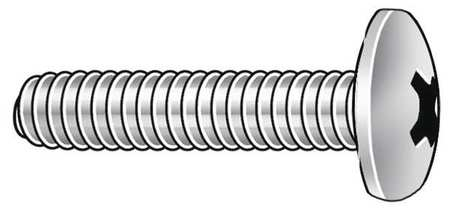 "#4-40 x 3/8"" Truss Head Phillips Machine Screw,  100 pk."