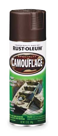 Camouflage Spray Paint, Earth Brown, 12 oz