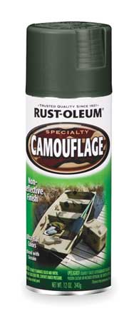 Camo Spray Paint, Deep Forest Green, 12 oz