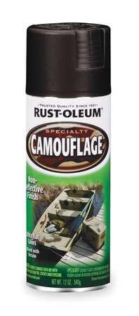 Camouflage Spray Paint, Black, 12 oz.