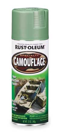 Camouflage Spray Paint, Army Green, 12 oz.