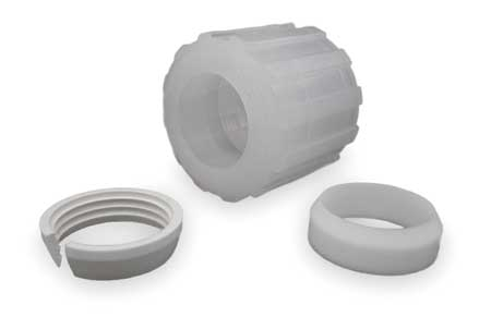 Nut Assembly, PFA,  PTFE,  ETFE, Comp, 1/2In