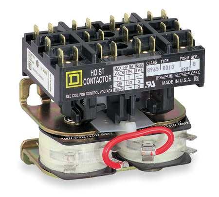 Hoist Contactor, 24VAC, w/Jumper Straps, 3P