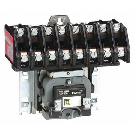 120VAC Electrically Held Lighting Contactor 8P 30A