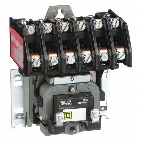 120VAC Electrically Held Lighting Contactor 6P 30A