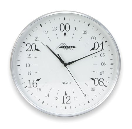 "12"" Analog Quartz Wall Clock,  Silver"