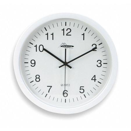 "13-3/4"" Analog Quartz Wall Clock,  White"