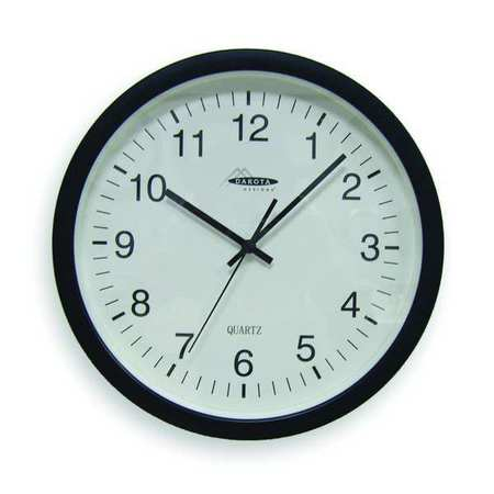 "13-3/4"" Analog Quartz Wall Clock,  Black"