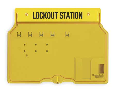 Lockout Station, Unfilled, 12-1/4 In H