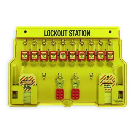 Lockout Station, Filled, 36 Components