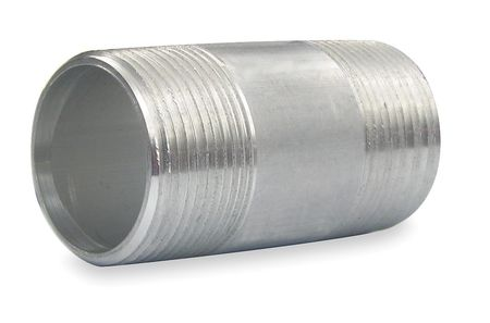 Rigid Conduit Nipple, 1 1/4 In x 3, Al