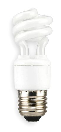 LUMAPRO 7.0W,  T2 Screw-In Fluorescent Light Bulb,  Min. Qty 6