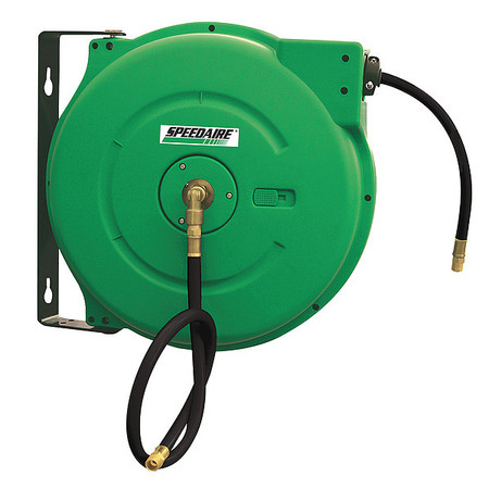 "1/2"" x 40 ft. Spring Return Hose Reel with Hose 300 psi"