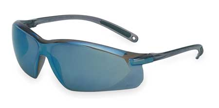 Honeywell Blue Mirror Safety Glasses,  Scratch-Resistant,  Wraparound