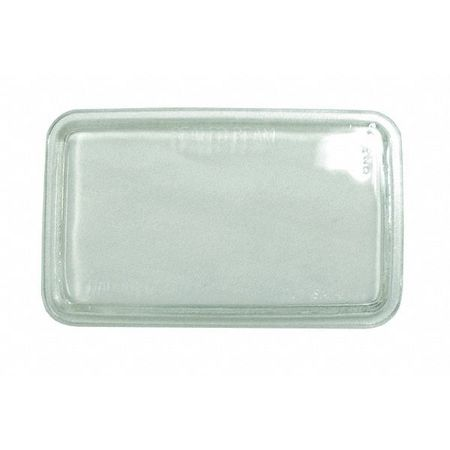 Lens Clear, 4-1/2 In., Rectangle, 12V