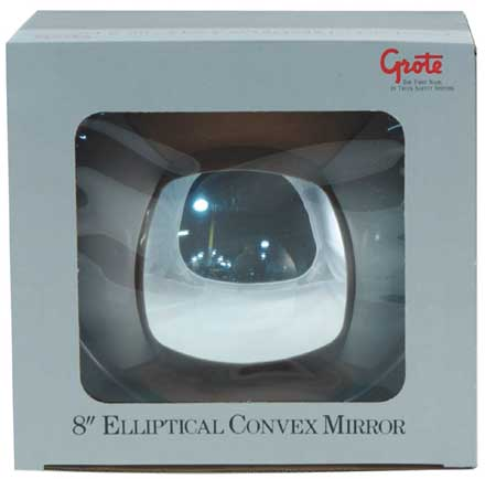 Elliptical Mirror, 8-3/4 In, Convex