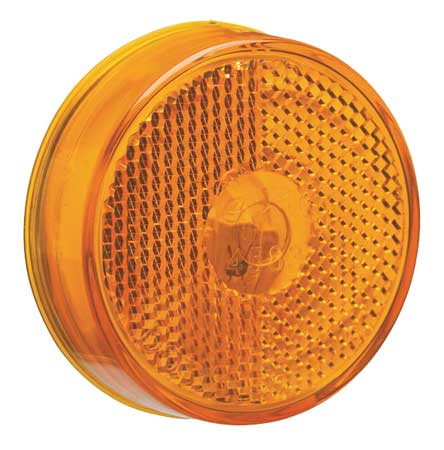 Marker Lamp, Reflector, 2-1/2 In, Yellow
