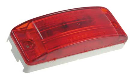 Clearance/Marker Lamp, Optic Lens, LED, Red
