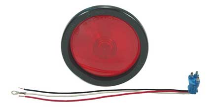Stop-Turn-Tail Lamp, Red, Round