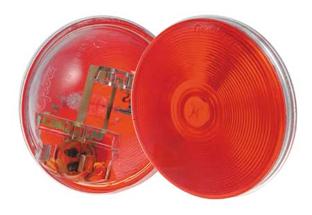 Stop/Tail/Turn Lamp, Red, Round