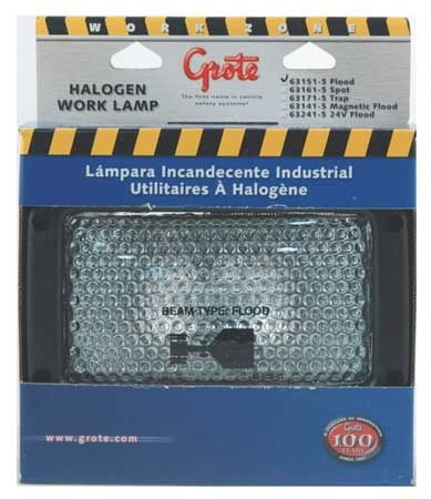 Rectangular Halogen Work Lamp