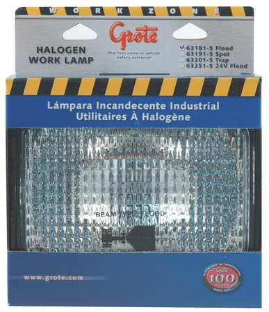 Large Rectangular Halogen Work Lamp