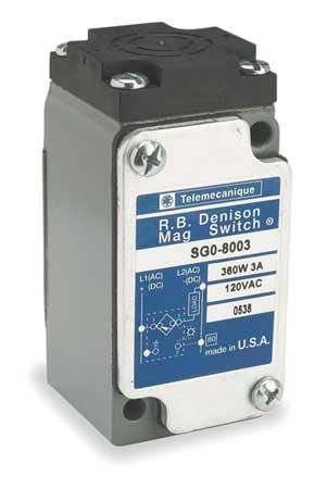 Rectngulr Proxmity Sensr, Magnetc, 120V, NO