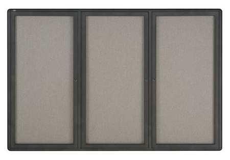 """Enclosed Fabric Bulletin Board 48"""" x 72"""""""