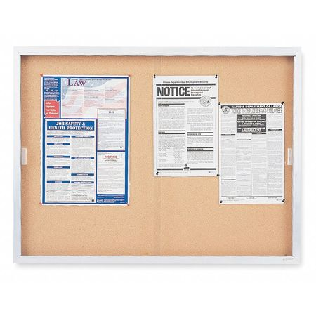 "Enclosed Bulletin Board, 36"" x 48"""