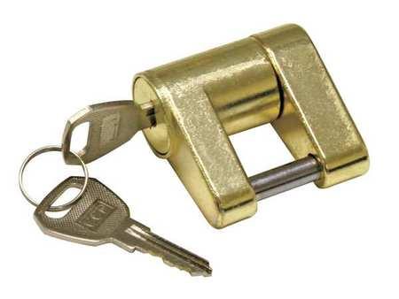 Trailer Coupler Lock, Brass, REESE TOWPOWER