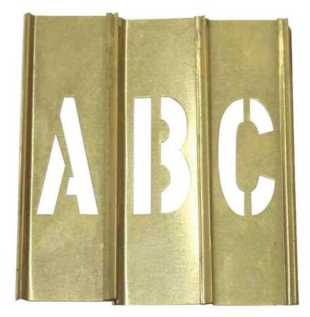 Value brand stencil set letters punctuation brass for Metal stencil set letters