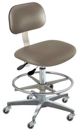 Ergonomic Chair Upholstered Vinyl, Seat Height Range 19 to 26