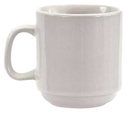 Bright White Alpine White Narrow Rim Mug 10 oz.,  Pk36