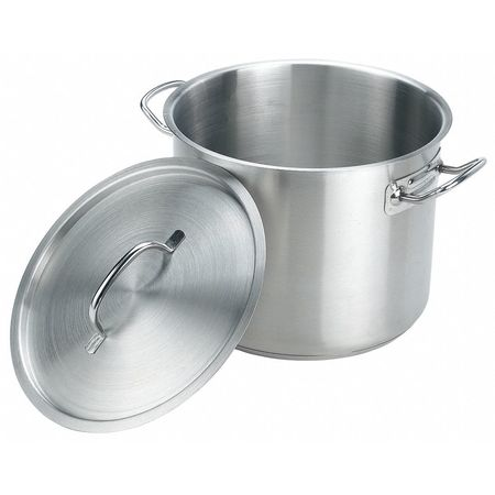 Stock Pot w/Cover, 20 qt, 13-1/2 In., SS