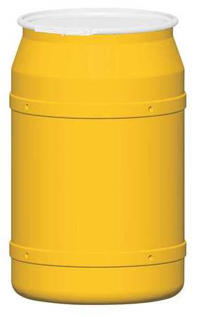 Transport Drum, Open Head, 57.5 gal, Yellow